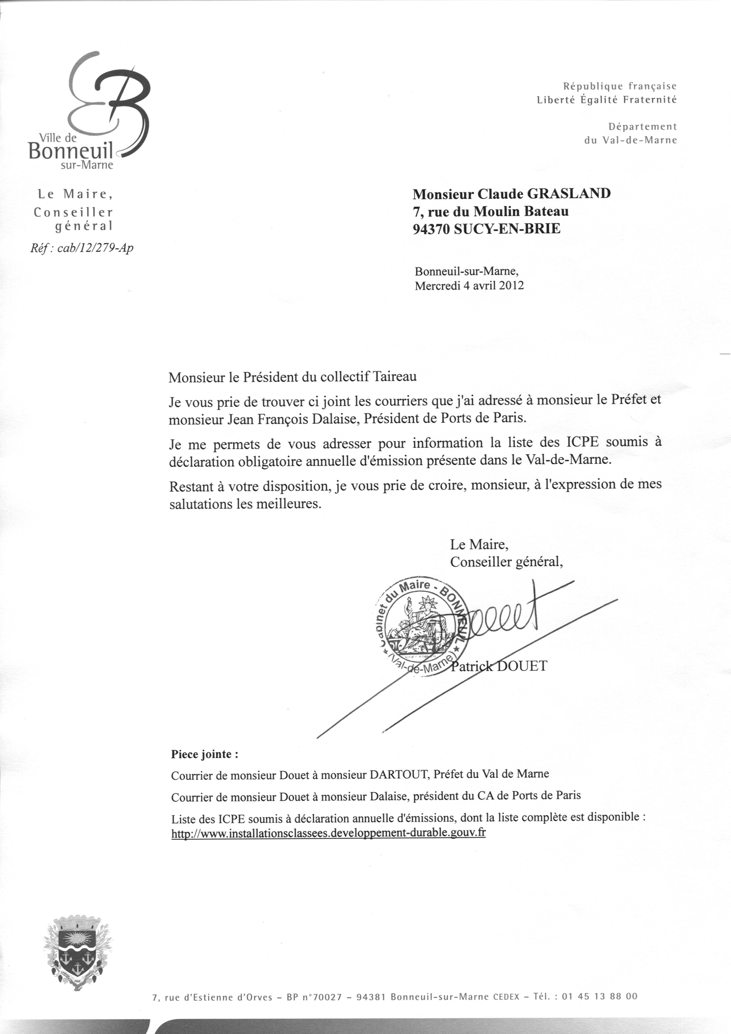 Modele Lettre Invitation Maire Document Online